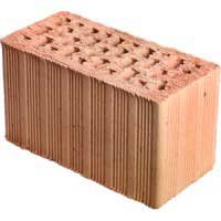 Вид теплого керамического кирпича