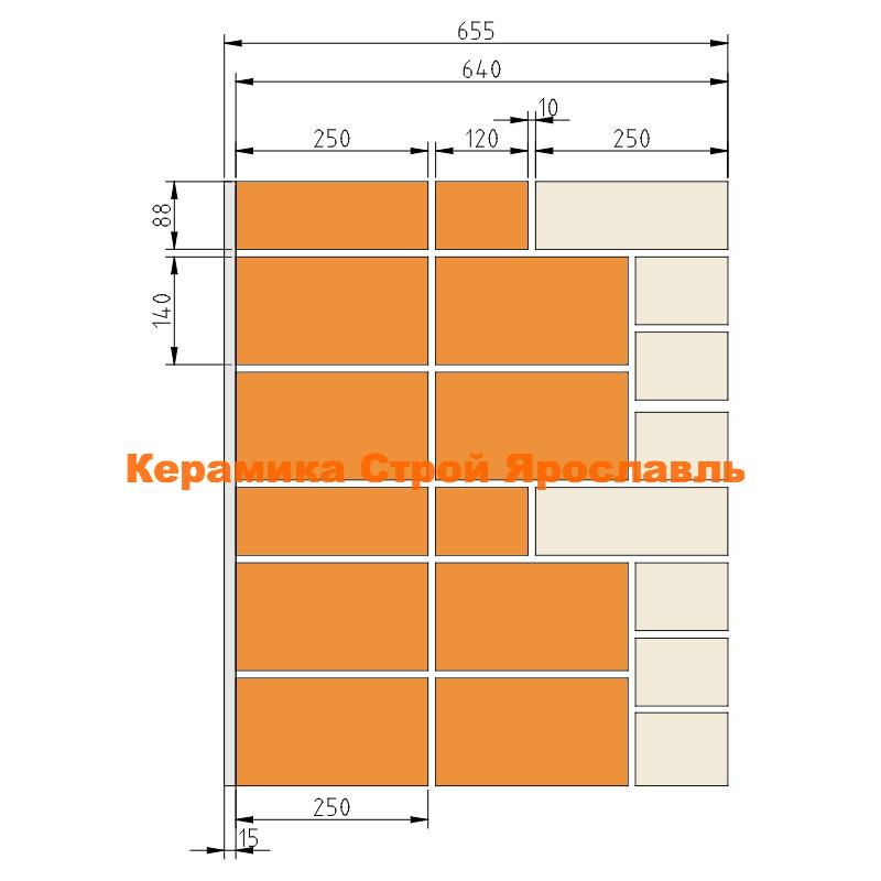 Конструкция наружной стены 64 см R=3,1 m2C0/Вт